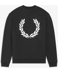 Fred Perry Laurel Wreath Sweatshirt - Black