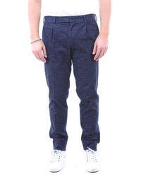 Bagnoli Sartoria Napoli Cotton Pants - Blue