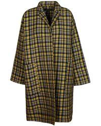 Sofie D'Hoore Women's Carewtarlemongrey Yellow Wool Coat