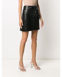 Nanushka Meda Vegan Leather Mini Skirt - Black