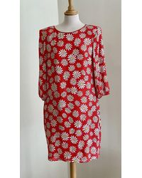 Boutique Moschino Strawberry Daisies Dress - Red