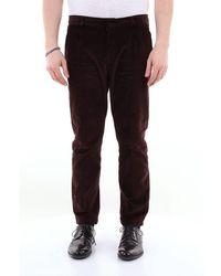 26.7 Twentysixseven Twentysixseven Smooth Velvet Trousers With Turn-ups - Brown