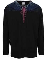 Marcelo Burlon Wing Long Sleeves T-shirt - Black