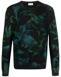 Saint Laurent Saint Laurent Tie And Dye Pattern Sweat - Black