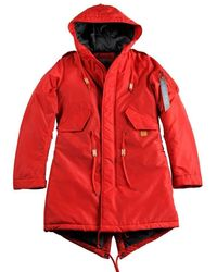 Alpha Industries Women Cold Weather Jacket Fishtail Cw Tt Wmn Red