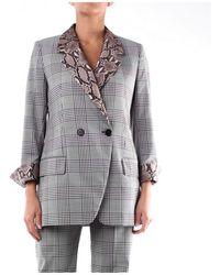 MSGM Women's 2841mdg08y207119neroebian Black Wool Blazer