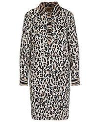 Marc Cain Collections Safari Style Dress Cuban Sand Nc 21.29 W27 - Black