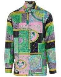 Versace Men's A84050if005375x000 Multicolour Other Materials Shirt - Green