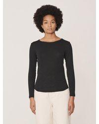 YMC Charlotte Long Sleeve T-shirt In Black