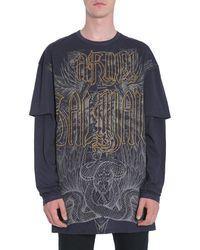 Balmain Double Sleeves T-shirt - Gray