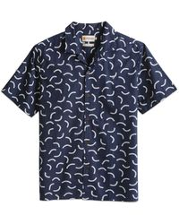 Farah Wathey Short Sleeve Printed Shirt - True Navy - Blue