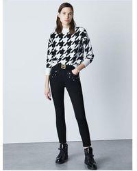 Marella Tiglio Geometric Knit Colour: Black