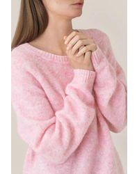 Second Female Brook Knit Loose Round Neck - Pink