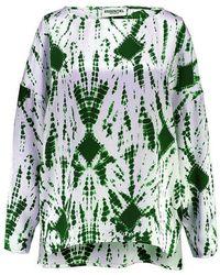 Essentiel Antwerp Antwerp Viktoria Dropped Shoulder Tie-dye Top - Green