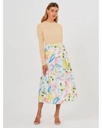 Finders Keepers The Painted Skirt In Brushstroke - Multicolour