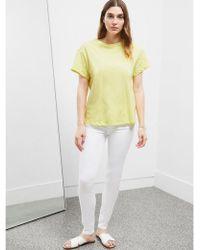Great Plains - Cotton Jersey T-shirt In Lemon Zest - Lyst