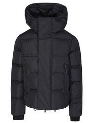 DSquared² Hooded Nylon Puffer Jacket - Black