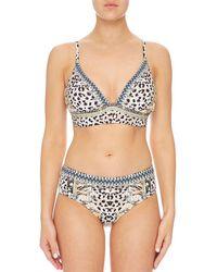 Camilla Women's Leopard Print Bikini 842sbra027/842span060 In Beige - Black