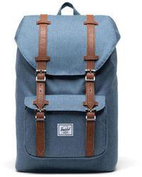 Herschel Supply Co. Little America Mid Backpack Volum - Blue Mirage Crosshatch