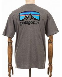 Patagonia Fitz Roy Horizons Responsibili Tee - Grey