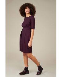 Emily and Fin Hattie Fuchsia Mini Spot Dress - Purple