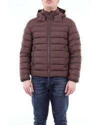 Colmar Super Matt Down Jacket With Detachable Hood - Brown