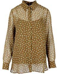 Max Mara Studio Women's 62610317600003 Brown Silk Shirt