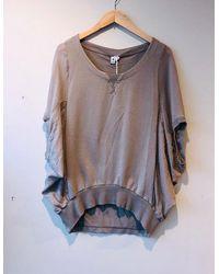 European Culture Short Sleeve Sweatshirt - Grey