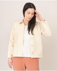 Beaumont Organic Sharon-dee Cotton Jacket In Ivory - White
