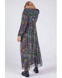 Swildens Darren Chiffon Print Dress - Blue