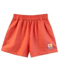 L.F.Markey Basic Linen Shorts Coral - Red