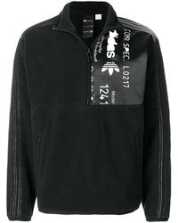Alexander Wang Aw Polar Half Zip Sweatshirt - Black