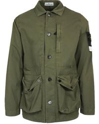 Stone Island Men's 7415439wnv0158 Green Other Materials Jacket