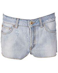 Dondup Hirsty Distressed Denim Shorts - Blue