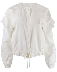 Scotch & Soda Scotch & Soda Loose Shirt With Lace And Sport Detailing - White