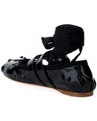 Miu Miu - Women's 5f466afm005h27f0002 Black Other Materials Flats - Lyst