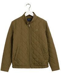 GANT Quilted Windcheater - Green