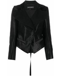 Ann Demeulemeester Women's 20021000p186099 Black Wool Jacket