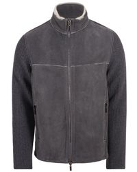Gimo's Jacket Leather / Suede Gray 20al.3.070.13.41a