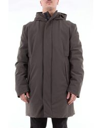 Rrd Winter Eskimo Solid Colour Waterproof Coat With Hood And Duck Down Padding - Metallic