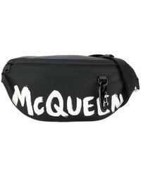 Alexander McQueen - Men's 596425hwc1k1070 Black Polyamide Belt Bag - Lyst