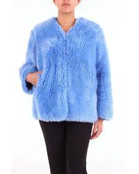Sara Lanzi Fur Women Light Blue