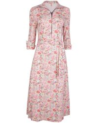 The West Village Shirt Dress Hot Ditsy Floral - Pink