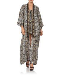 Camilla Women's Kimono Coat 1407 - Brown