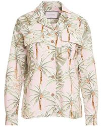 Bagutta Shirt With Allover Print - Pink
