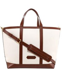 Tom Ford Canvas Handbag - Brown