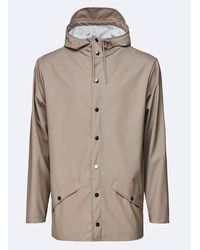 Rains Jacket In Taupe - Multicolour