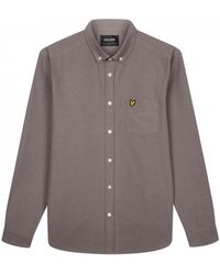 Lyle & Scott Lyle And Scott Ls Oxford Shirt - Gray