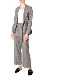 Brunello Cucinelli Overcheck Wool Suit - White