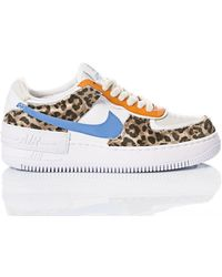 Nike - Women's Airforce1jaguar2011 White Leather Sneakers - Lyst